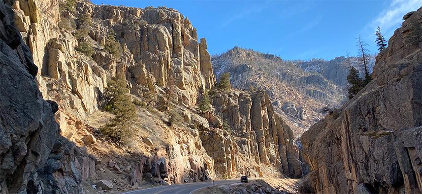 Pourdre Canyon Road Colorado