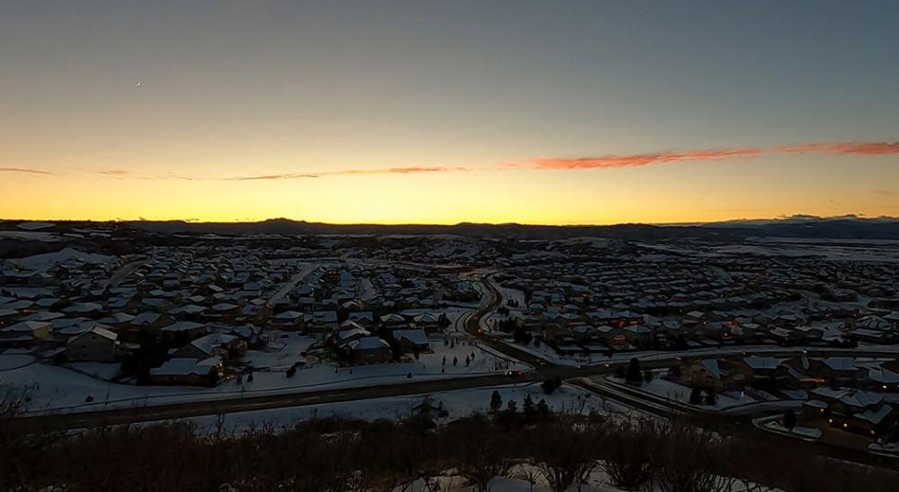 Sunset Time Lapse Castle Rock Colorado